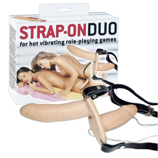 Vibračný strap-on DUO